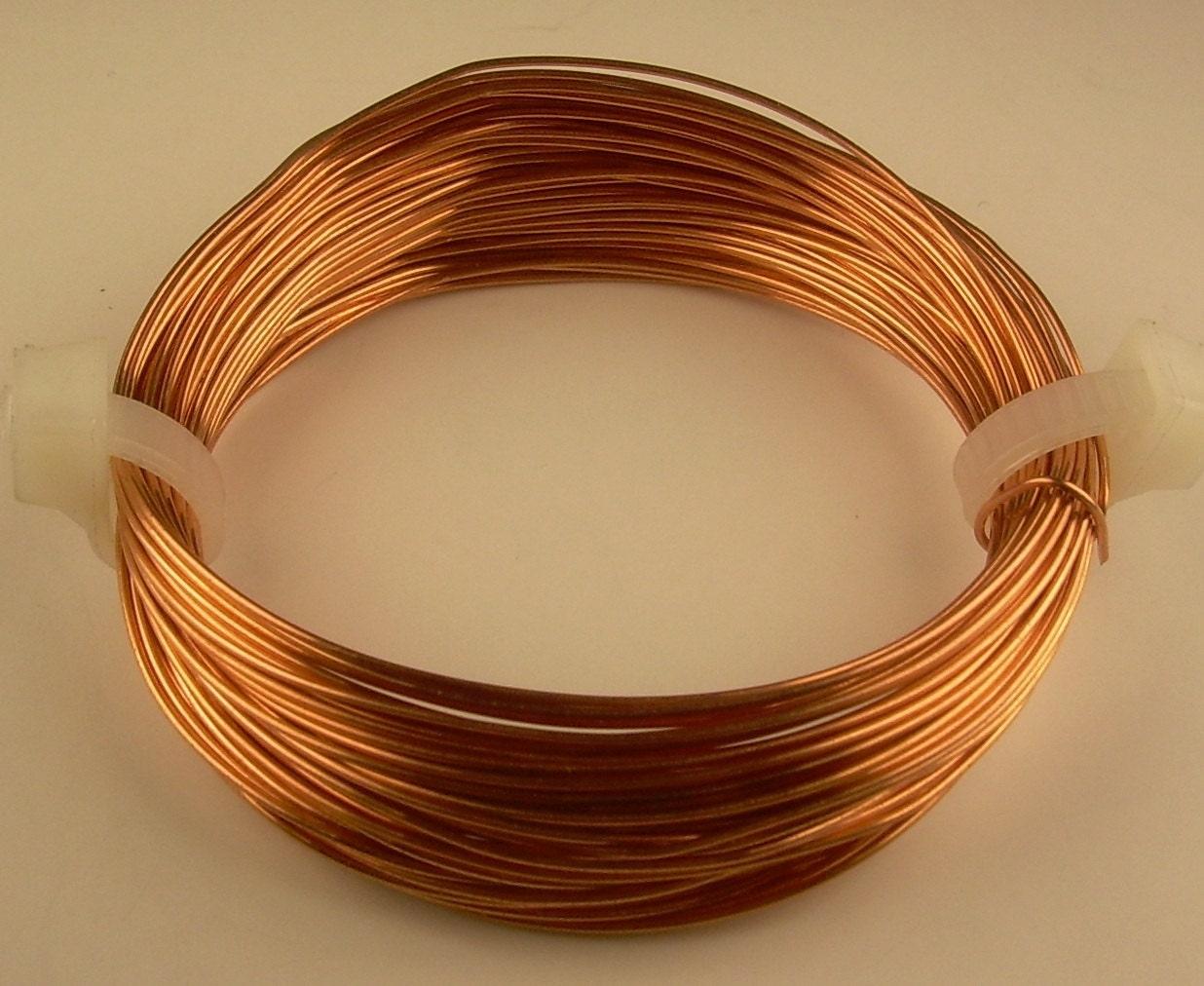 Copper Craft Wire 14ga 2oz 11ft Soft Solid Genuine Etsy Wiring Zoom