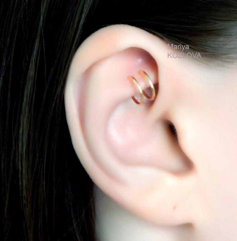 Neuf Solide Argent Sterling 925 Sans Piercing cristal d/'oreille HOOP Clip Sur Le Poignet Boucles d/'oreilles