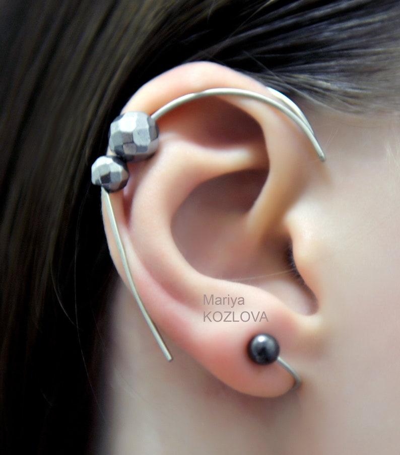 New Ear Cuff For Protruding Ears No Piercing Ear Jacket Piercing Imitation Fake Faux Piercing Ear Manschette Ohrklemme Ear Sweep Ear Climber