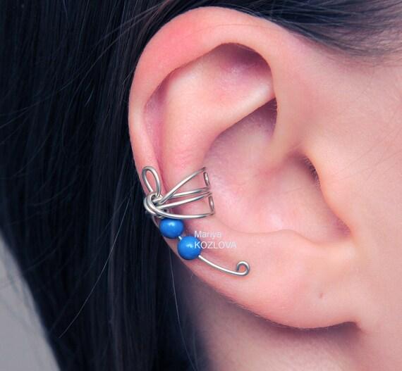 Ohrklemme Fake Ear Cuff Ohrpiercing Ohrring Vintage Kristall Clip On Ohrclip