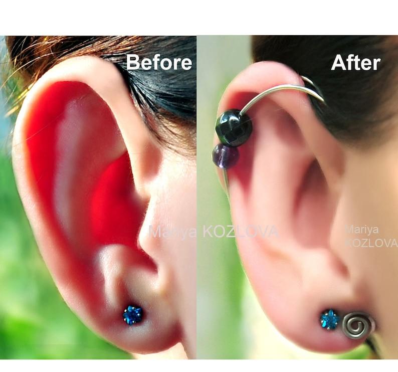 Ear Cuff For Protruding Ears No Piercing Ear Jacket Piercing Imitation Fake Faux Piercing Helix Ear Manschette Ohrklemme Ear Sweep Climber