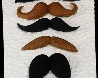 24 Edible MUSTACHE gum paste/fondant /any color(s)/moustache cake or cupcake toppers