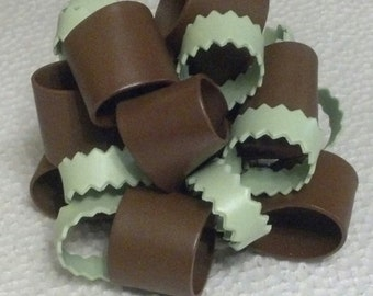 Edible gum paste ribbon BOW cake topper - 2 colors.