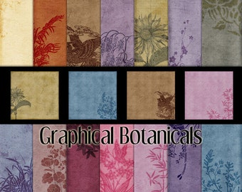 Graphical Botanicals Digital Papers