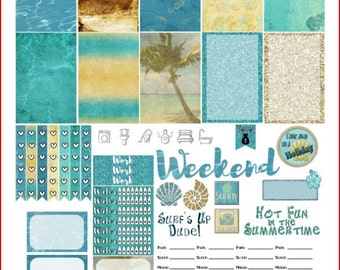 Sandy Cove Printable Stickers for The Happy Planner