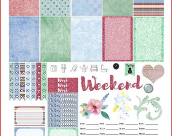 Breath of Spring Printable Stickers for The Happy Planner