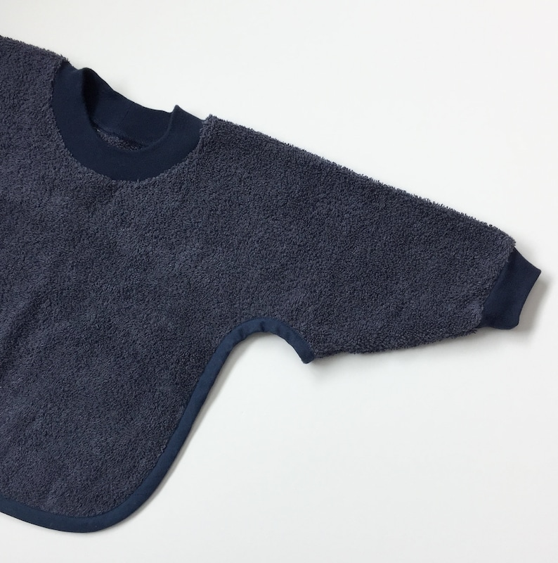 Dark Navy Pullover Baby to Toddler Bib with Sleeves