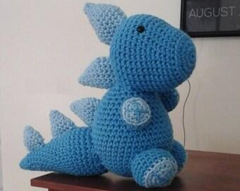 Crochet Blue Dino/Dragon Stuffed Animal