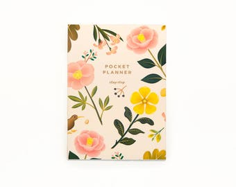 Garden Bloom Pocket Planner - Cream