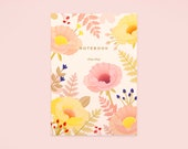 Oriental Poppy Notebook - Vanilla