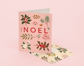 Holiday Plants Noel Card - Pink