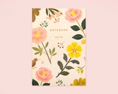 Garden Bloom Notebook - Cream
