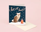 Let It Snow Fox Christmas Card for Holidays
