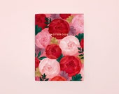 Peony Blossom Pocket Notebook
