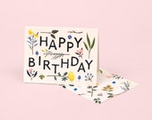 Plant Variety Birthday Card - Ivory