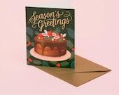 Holiday Dessert Card - Deep Green