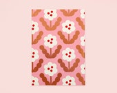 Pink Flower Planner, Floral Monthly Planner, Pink Gold Monthly Planner, Floral Weekly Planner, Open Dated Planner