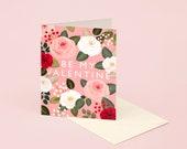 Pink Rose Valentine's Day Card