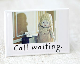 Call Waiting Magnet Funny Bisque Dolly Claudia Doll Funny Lemon Fridge Decoration