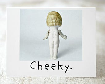 """Claudia Adventures Doll Blank Card """"Cheeky"""" Naked Bisque Doll Stationary (1)"""