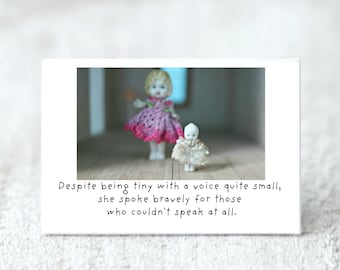 Despite Being Tiny With A Voice So Small Bravery Standing Up Magnet Adventures of Claudia Doll