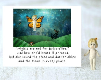 Nights Are Not For Butterflies Be Yourself Card Friendship Support Stationary