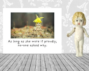 As Long As She Wore It Proudly Adventures of Claudia Doll Confidence Encouragement Card