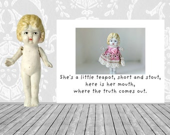She's A Little Teapot Funny Truth Doll Greeting Card Adventures of Claudia