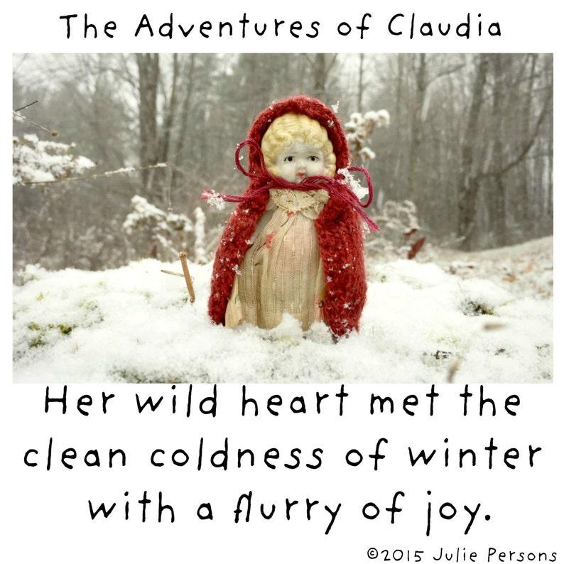 Joyful Fridge Decoration Her Wild Heart China Claudia Doll Typography Winter Magnet