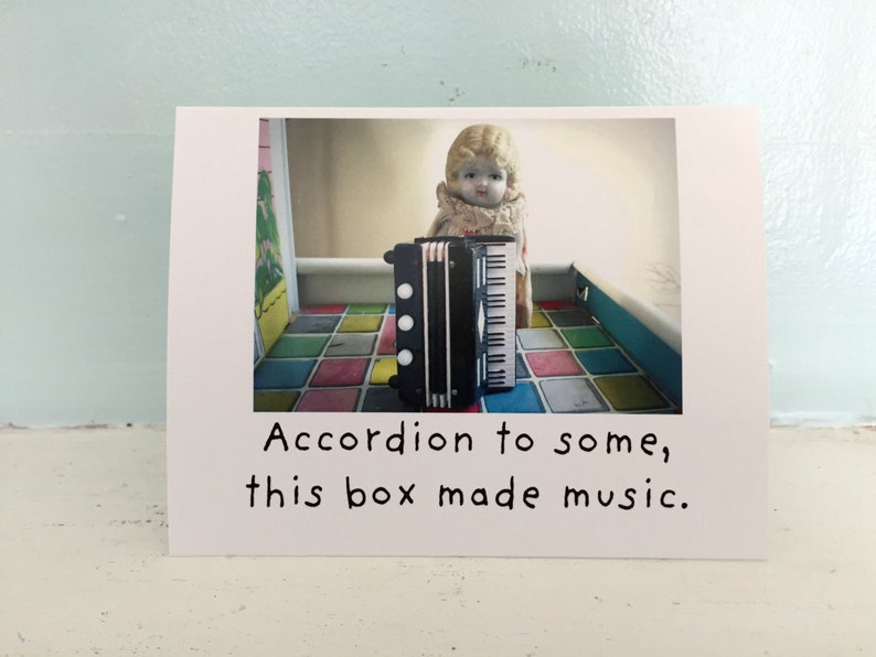 417ac3c4b659 Adventures of Claudia Porcelain Doll Card Accordion To