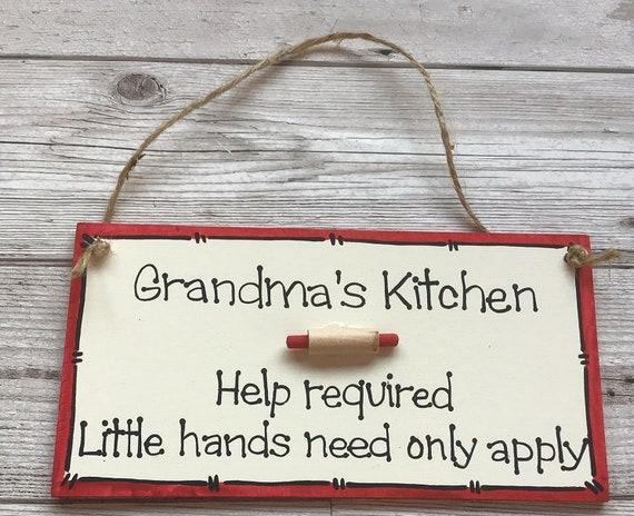 Grandma Nanny Nan Kitchen Personalised Sign Cooking Humorous Funny Wall Hanging