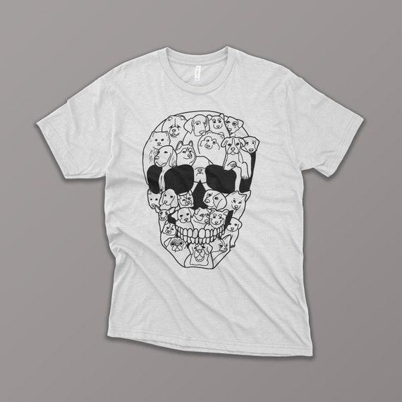 d2828ebddbd4 ON SALE Dog Skull Shirt Funny Halloween T-Shirt Skull | Etsy