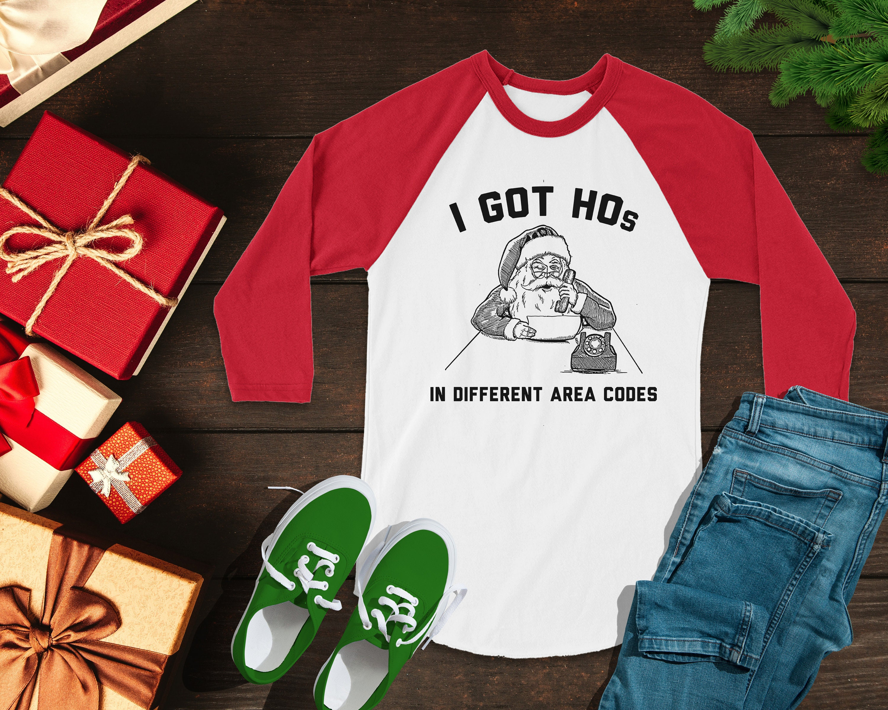 31a208186fe ON SALE Funny Christmas Shirts I Got HOs In Different Area