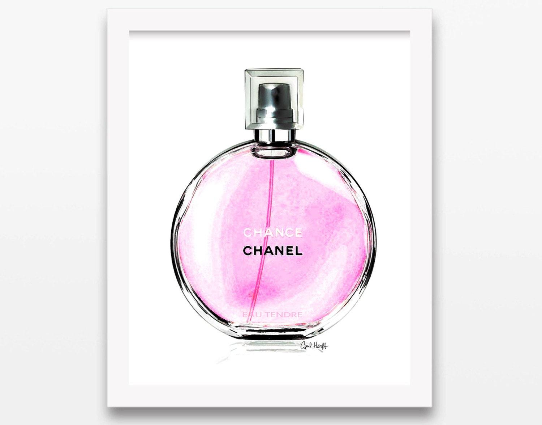 5c7f4990073 NEW Coco Chanel Chance Pink Perfume Print Wall Art