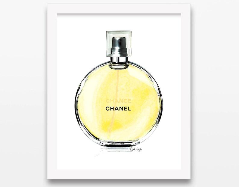 New Coco Chanel Chance Yellow Perfume Print Wall Art Etsy