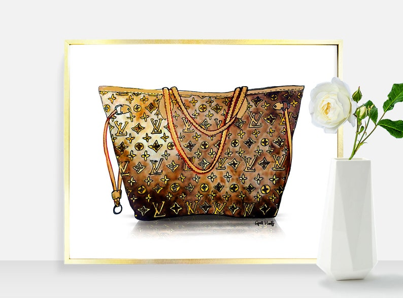 41e754da99 Louis Vuitton Neverfull Handbag PRINT Wall Art Fashion