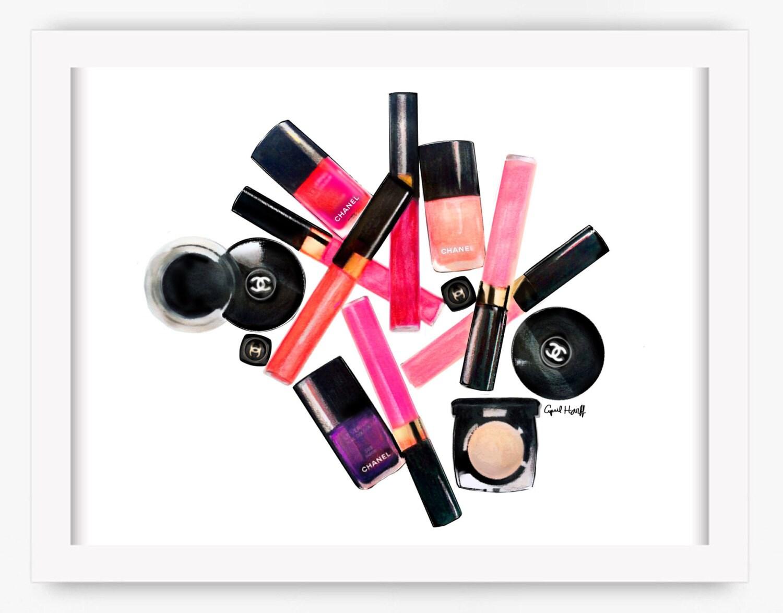 Neue Chanel Lipgloss Anna Make-up Print Wandkunst | Etsy
