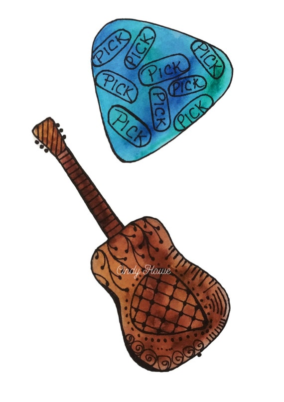 Acoustic Guitar Png File Transparent Png File Guitar Etsy