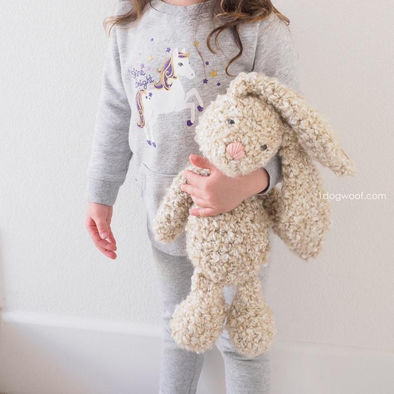 CROCHET PATTERN: Classic Stuffed Floppy Bunny image 0