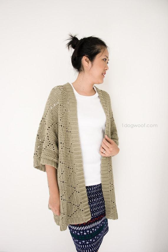 Summer Diamonds Kimono Cardigan Crochet Pattern Etsy