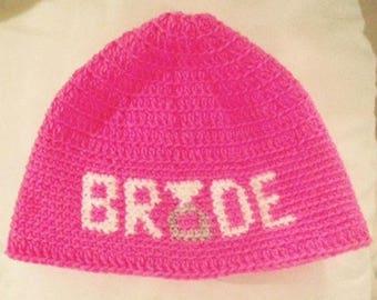Crochet bride beanie