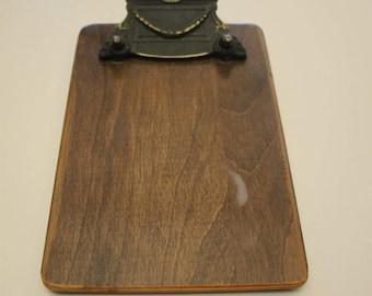 Vintage Brass Wood Ticker Tape Clipboard