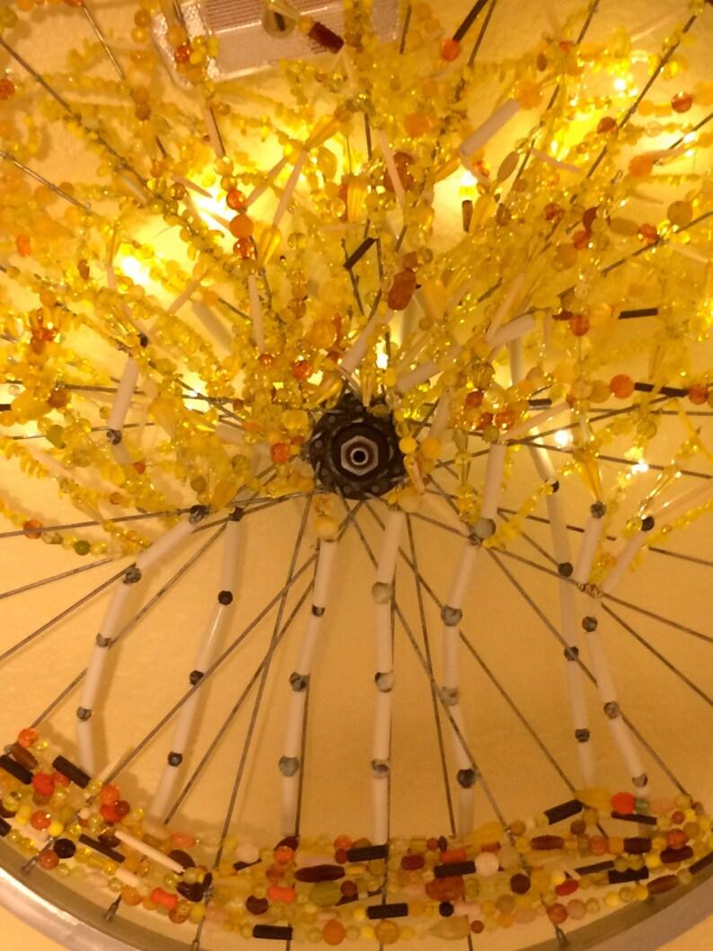 Autumn Aspen Grove Bicycle Wheel Art bike art recycled wall image 0