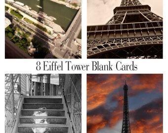 Eiffel Tower Photography Boxed Note Cards