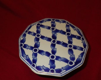 Small Colbalt Blue, Prussian Cake Plate