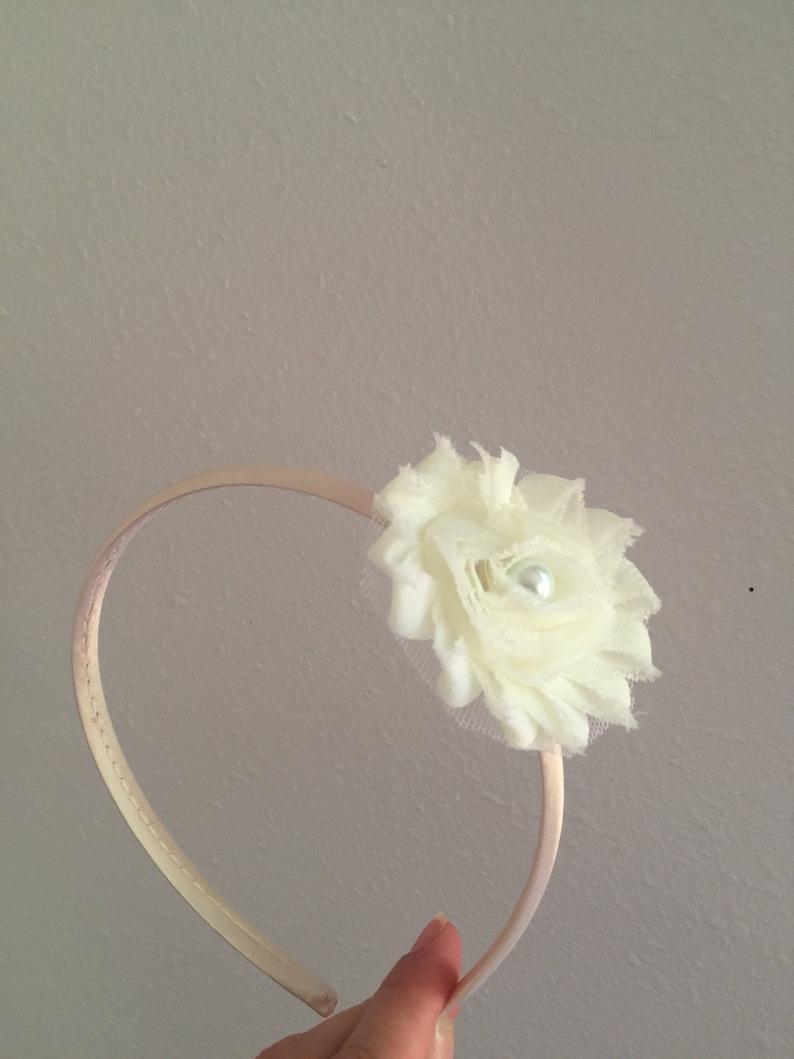 SALE Ivory headbands ivory headbands toddler ivory headband yellow toddler headband flower girls headband yellow