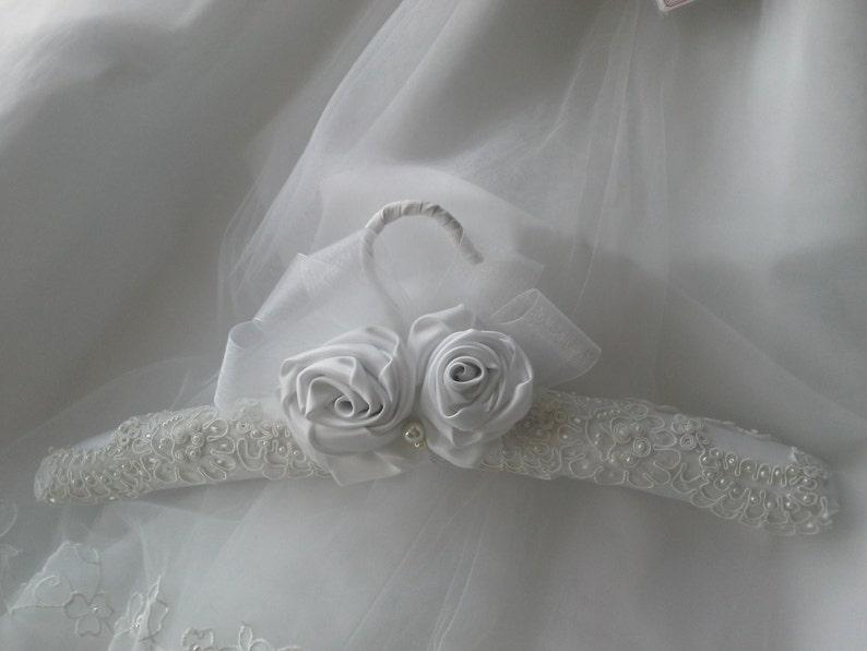 gancho para vestido de novias color satin blanco rosas   etsy