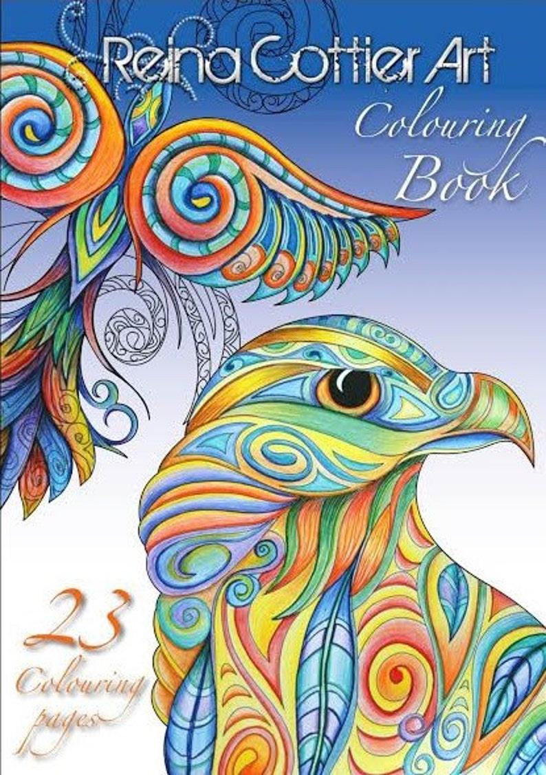 Reina Cottier Art 23 Page Colouring Book image 0