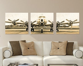 Airplane Canvas Etsy
