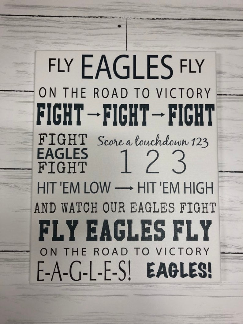 on sale 76d9c b29cc Philadelphia Eagles fight song, For the Sports Fan, for him, Personalized  Gift, Man Cave wall art, NFL, for dad, for mom